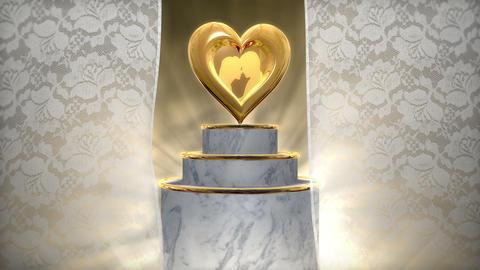 Wedding Title BG 001 stock footage
