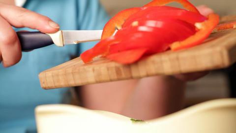 salad preparation Stock Video Footage
