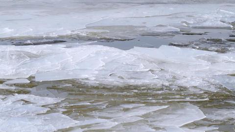 ice drift Stock Video Footage