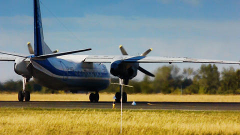 Airplane taxiing Stock Video Footage