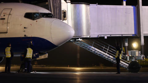 Airport gate Stock Video Footage