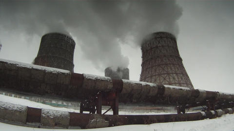 Cooling towers 3 Footage