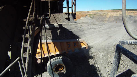 Giant excavator camera Animation