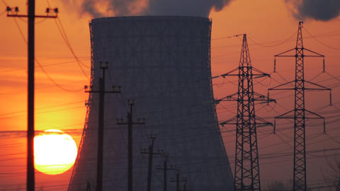 Industrial dawn Footage