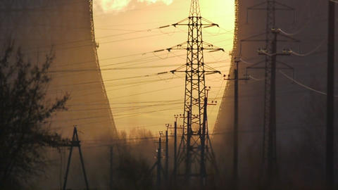 Industrial dawn Stock Video Footage