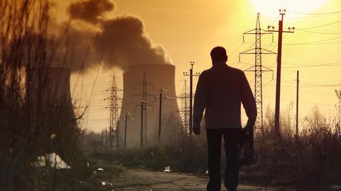 Industrial dawn edit Footage