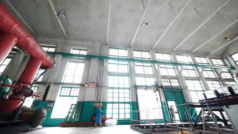 Interior of power station Stock Video Footage