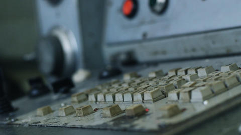 Old  Milling  Machine  013 stock footage