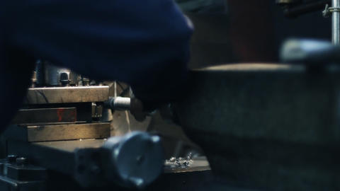 Old milling machine 013 Stock Video Footage