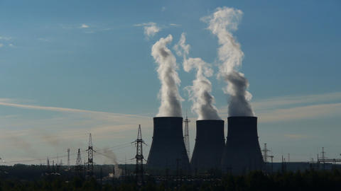 Power station 1 Stock Video Footage
