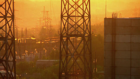 Power substation Stock Video Footage