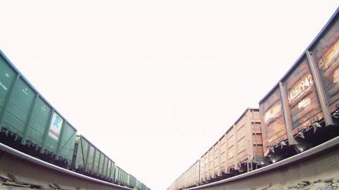 Under locomotive Stock Video Footage