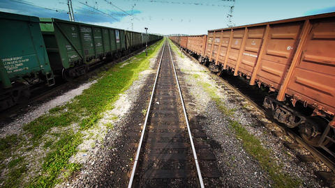 View from locomotive Stock Video Footage