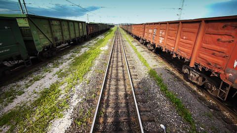 View from locomotive Footage