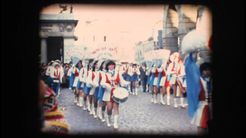 Vintage 8mm. Festive parade Stock Video Footage