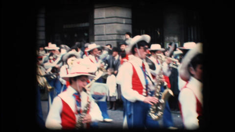 Vintage 8mm. Festive parade Footage