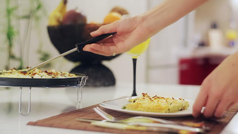 Serving Food Stock Video Footage