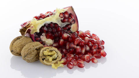 Ripe pomegranate fruit Footage