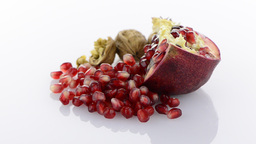 Ripe pomegranate fruit Stock Video Footage