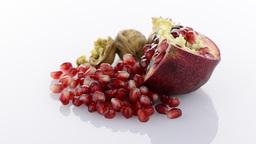 Ripe pomegranate fruit Stock Video Footage