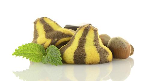 Homemade chocolate cookies Stock Video Footage