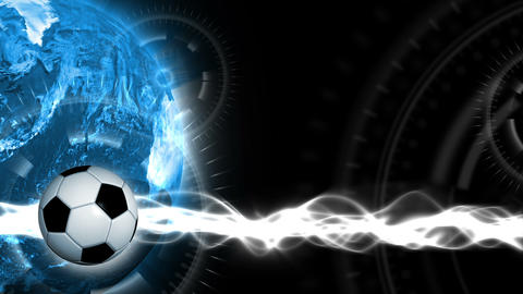 Soccer World Background 43 (HD) Stock Video Footage