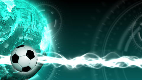 Soccer World Background 45 (HD) Stock Video Footage