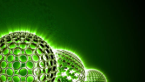Spherical Elements Background 02 (HD) Stock Video Footage