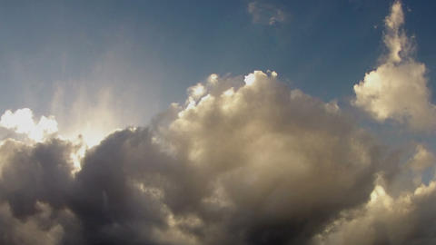 Blue sky with dark heavy clouds Stock Video Footage