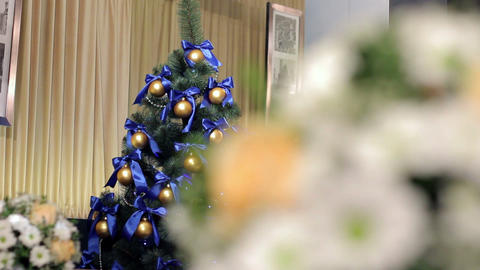 Wedding & Christmas decorations Stock Video Footage