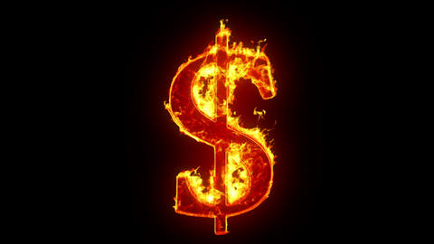 Burning dollar sign Animation