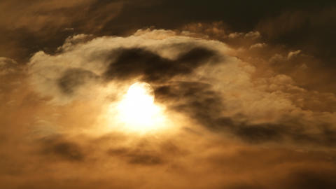 sun through clouds Stock Video Footage