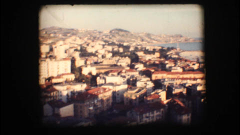 Vintage 8mm. View of small Italian town Footage