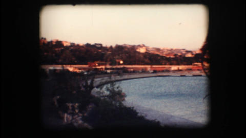 Vintage 8mm. View of port and sail boats Footage