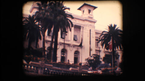 Vintage 8mm. Old casino and palm trees Footage