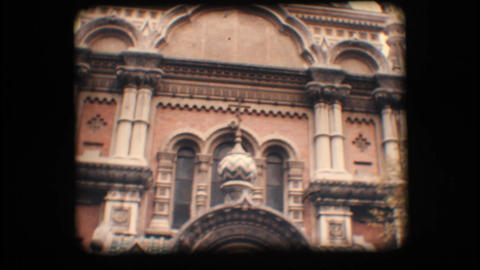 Vintage 8mm. Orthodox church in Italy Stock Video Footage