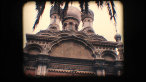 Vintage 8mm. Orthodox church in Italy Footage