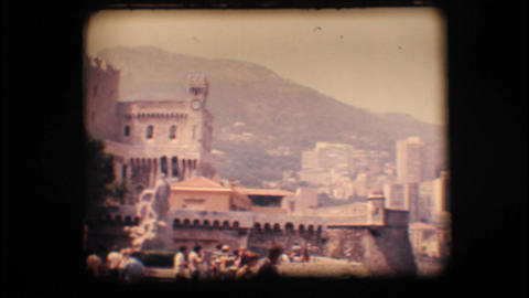 Vintage 8mm. Prince's Palace of Monaco Stock Video Footage