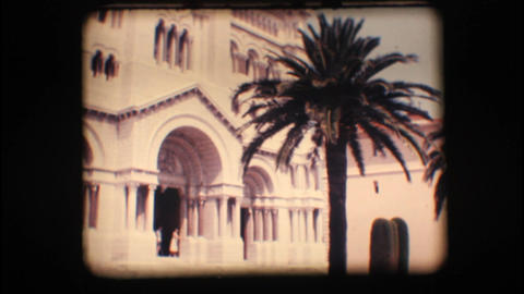 Vintage 8mm. Church in Monaco Stock Video Footage