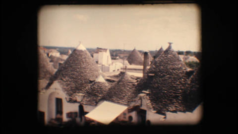 Vintage 8mm. Trulli in Alberobello Footage