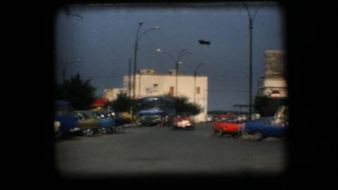 Vintage 8mm. View of downtown plaza Footage