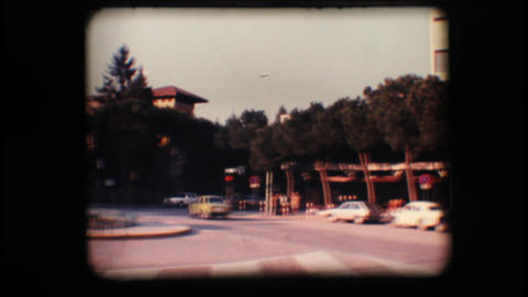Vintage 8mm. Busy road Stock Video Footage