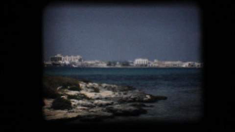Vintage 8mm. Bay in the Mediterranean Footage