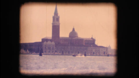 Vintage 8mm. Church of San Giorgio Maggiore, in Ve Footage