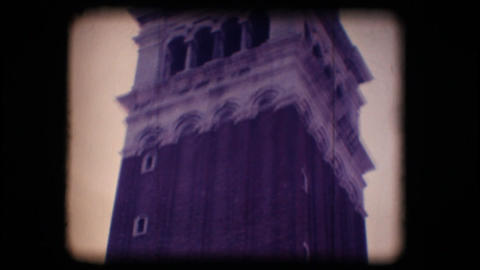 Vintage 8mm. St. Mark's bell tower Footage