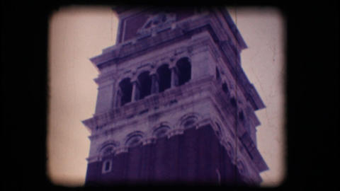 Vintage 8mm. St. Mark's bell tower Stock Video Footage