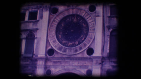 Vintage 8mm. Monument in Venice Footage