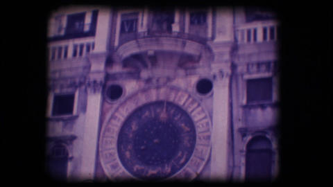 Vintage 8mm. Monument in Venice Stock Video Footage