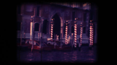 Vintage 8mm. Palace in Venice Footage