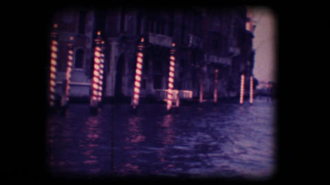 Vintage 8mm. Palace in Venice Stock Video Footage